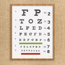 Printable Eye Chart Eye Chart Print