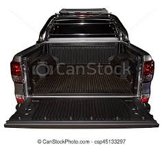 Open back of pick up truck. Open empty back of pick up modern silver ...