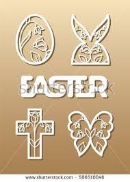 Easter Greeting Card Template Adorable Laser Cut Template For Easter Invitation Congratulation Or Greeting