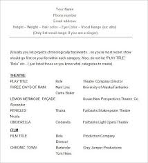 Talent Resume Template Stunning Acting Resume Sample Inspirational Actor Resume Example New Resume