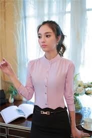 Female Office Shirt Designs 2019 Women Blouse 2017 Chic Fashion Casual Long Sleeve Office Shirts Formal Career Wear Women Tops Clothing From Donnatang240965 13 57 Dhgate Com