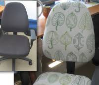 reupholster office chairs. The Blogger At Fortytwo Roads Shows Off A Stylishlooking Chair She Created Using Cheap Fabric From IKEAu0027s AsIs Bin And About Two Hours Of Work Reupholster Office Chairs