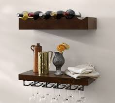 rustic wood entertaining shelves wine glass rack pottery barn s17 rack