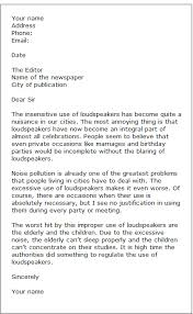 letters to editor sample 3