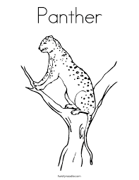 Small Picture Panther Coloring Page Twisty Noodle