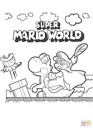 スーパーマリオワールド ぬりえ
