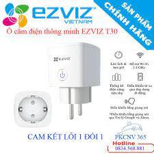 Ổ cắm điện thông minh EZVIZ T30-10B-EU , điều khiển bằng giọng nói , theo  dõi điện năng, an toàn tuyệt đối - BH 24 THÁNG giá cạnh tranh