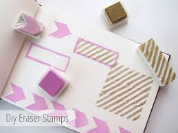 picture of make your own diy custom eraser stamps