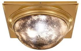 venice square flush mount brass ceiling lights fans indoor and outdoor lighting