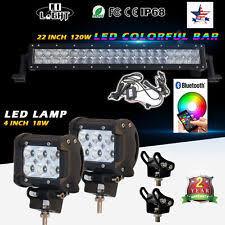 car strobe light colight 22 rgb led light bar bluetooth disco strobe flash 2x pod lights