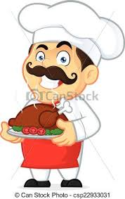 baked chicken clipart.  Chicken Chef Holding A Baked Chicken  Csp22933031 For Clipart B