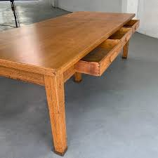 Large Industrial Oak Library Work Dining Table For Sale At 1stdibs