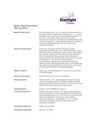 theatre internship cover letters unique event planning cover letter about wedding planner cover event