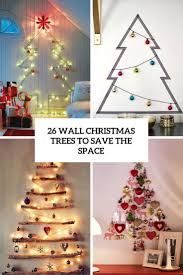 Christmas Tree Design On Wall With Lights 26 Wall Christmas Trees To Save The Space Shelterness