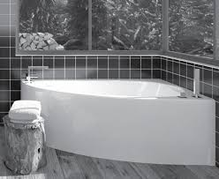 corner bath with full curved front skirt