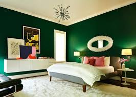 stupendous green bedroom walls wall mirror grey bed white bedding pink pillows pedestal side table wall