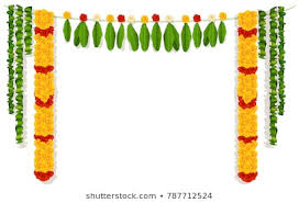 1000+ Orange Yellow Marigold Flower <b>Green Leaf</b> Garland Stock ...
