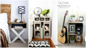 DIY Nightstand Bedside Table