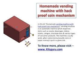 Vending Machine Coin Mechanism Delectable Vending Machine With Hack Proof Coin Mechanism Mechanical News To