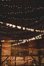 rustic wedding lighting. fall barn wedding rustic lighting