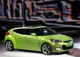 hyundai s veloster is one of the more interesting vehicles on display at the north american international