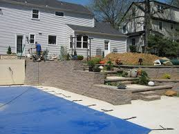 retaining walls are often used on locations where there are slopes in the landscape retaining walls create a level area for planting lawns outdoor living
