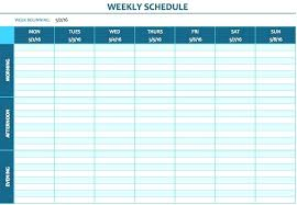 This Blank Weekly Schedule Template Provides Morning