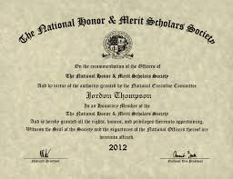 Merit Certificate Sample Extraordinary National Honor Merit Scholars Society Gold Embossed Certificate