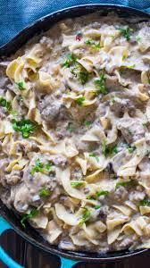 easy ground beef stroganoff recipe 30
