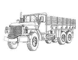 Military Coloring Pages Truck Coloringstar