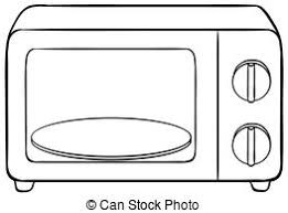 microwave clipart. microwave - close up oven with tray clipart
