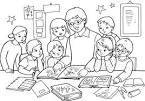 Раскраски учитель и ученик