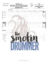 Free Fallin Drum Chart By Tom Petty One Page Easy Drum Sheet Music Pdf Of Songs For Sessions Practice Shows Or Gigs Great For An For Ipad Tablet