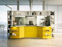 Yellow Kitchen Suspended Kitchen Skyline 20 By Snaidero