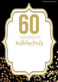 005 Template Ideas 60th Birthday Invite Templates Excellent