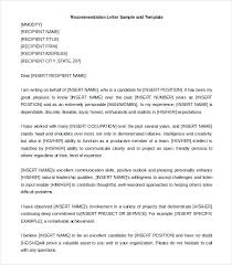 Awesome Collection Of Example Reference Letter Reference Letter For