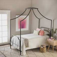 Shop The Curated Nomad Bailey Twin Size Metal Canopy Bed - Free ...