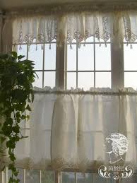 french country lace crochet curtains