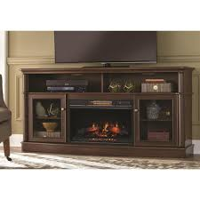 media console infrared bow front electric fireplace in