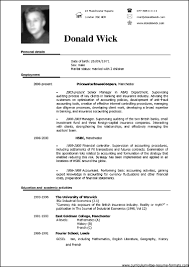 Sample Resume Doc Free Resume Templates 2018
