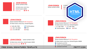 Company Email Signature Professional Free Email Signatures Html Template On Behance