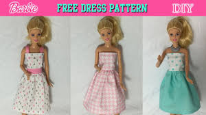 Doll Clothes Patterns Fascinating DIY Tutorial How To Make Barbie Doll Dress Free Pattern YouTube