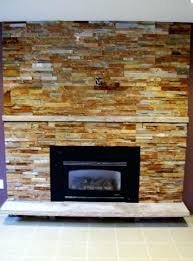 smlf installing faux stacked stone fireplace veneer surround tile amazing with small black electric gas without mantel