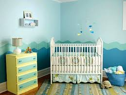 wall decor baby boy nursery colour good painting decorating ideas natural  sky blue and waves nuance