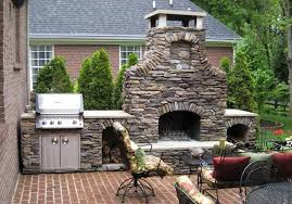 meval stacked stone fireplace