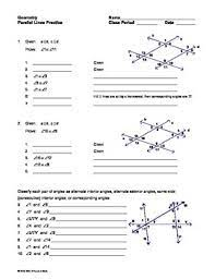 Plug in each value for x to solve). Unit 3 Parallel And Perpendicular Lines Homework 1 Parallel Lines And Transversals Gina Wilson Gina Wilson All Things Algebra Parallel Lines And Transversals Answer Key