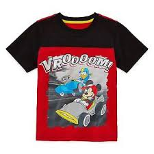 Details About New Size S 4 Disney By Okie Dokie Boys Tee Short Sleeve Mesh Red Mickey Mouse