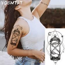 1 подсветка для пк горячий черный белый большой цветок хна временная татуировка
