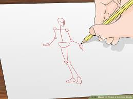 image led draw a female body step 1