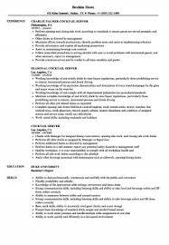 Resume Server Skills New Server Resume Skills Inspirational Restaurant Beautiful Cocktail Are